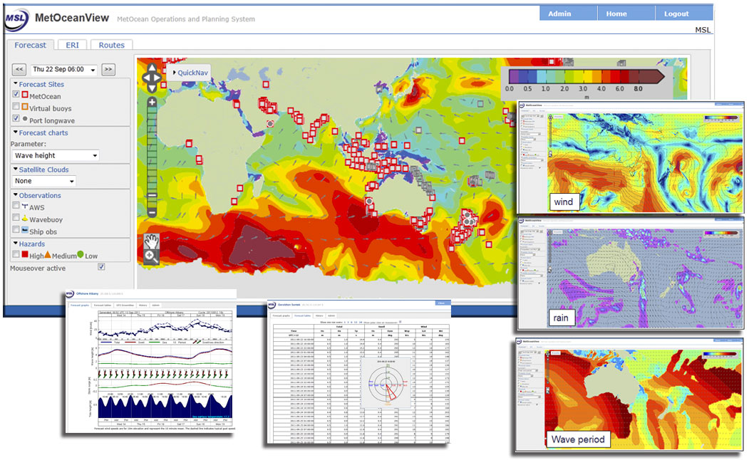 Marine Weather Map.Offshore Marine Forecasts Metraweather Powerful Weather Intelligence