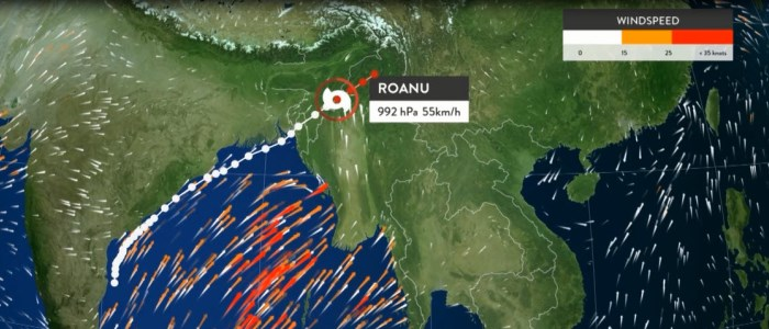 Tropical Cyclone Roanu May 2016 Weathertscape XT