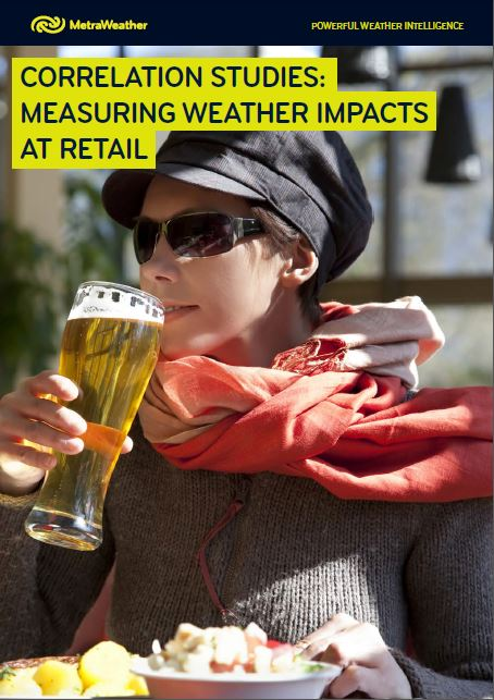 Correlations studies: measuring weather impacts at retail