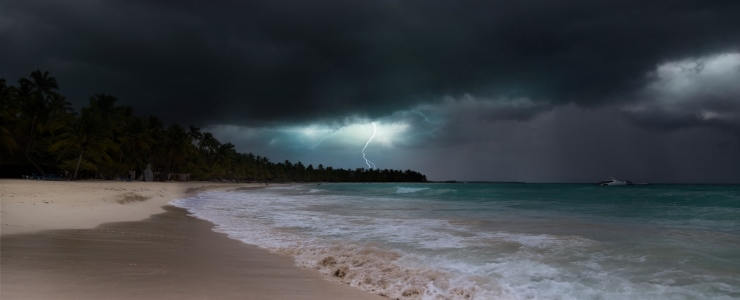 Lightning over the Pacific